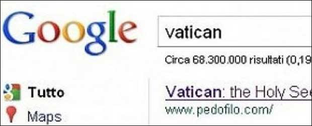 Vatican et google bombing