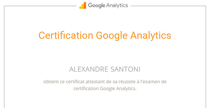Certification Analytics Alexandre Santoni Keeg